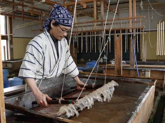 Kurotani Washi Japanese paper making 1