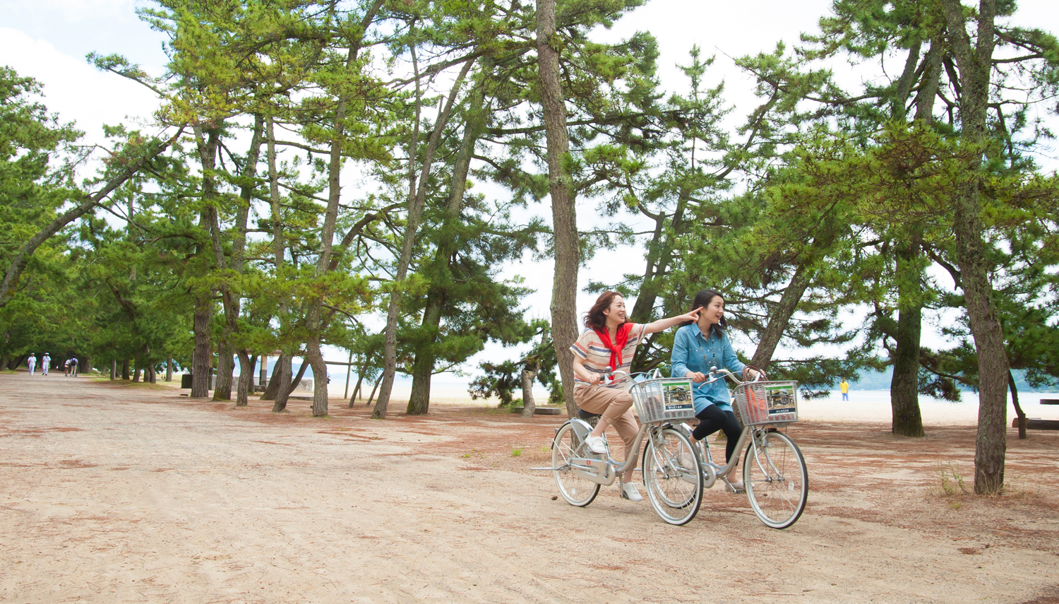 "Amanohashidate rent-a-bicycle ""trip advantageous by economical cycle ticket"""