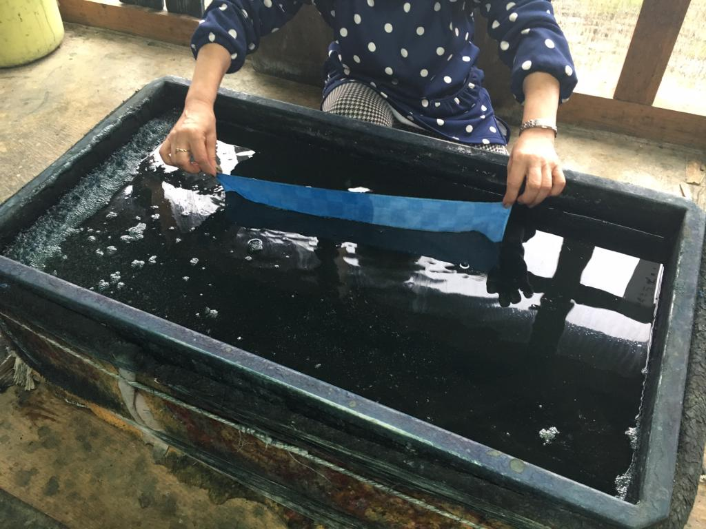 Traditional technical indigo dyeing experience of Fukuchiyama