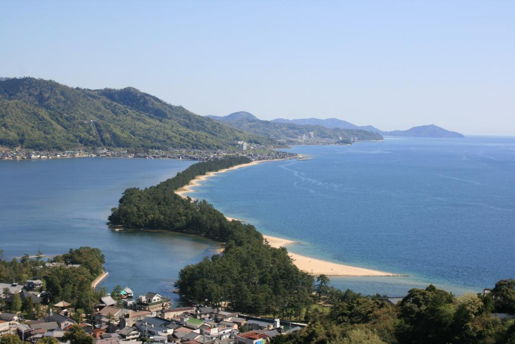 The outlook on enlightened emperor side from Amanohashidate View Land