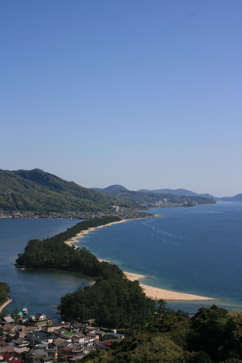 Outlook on enlightened emperor length from Amanohashidate View Land