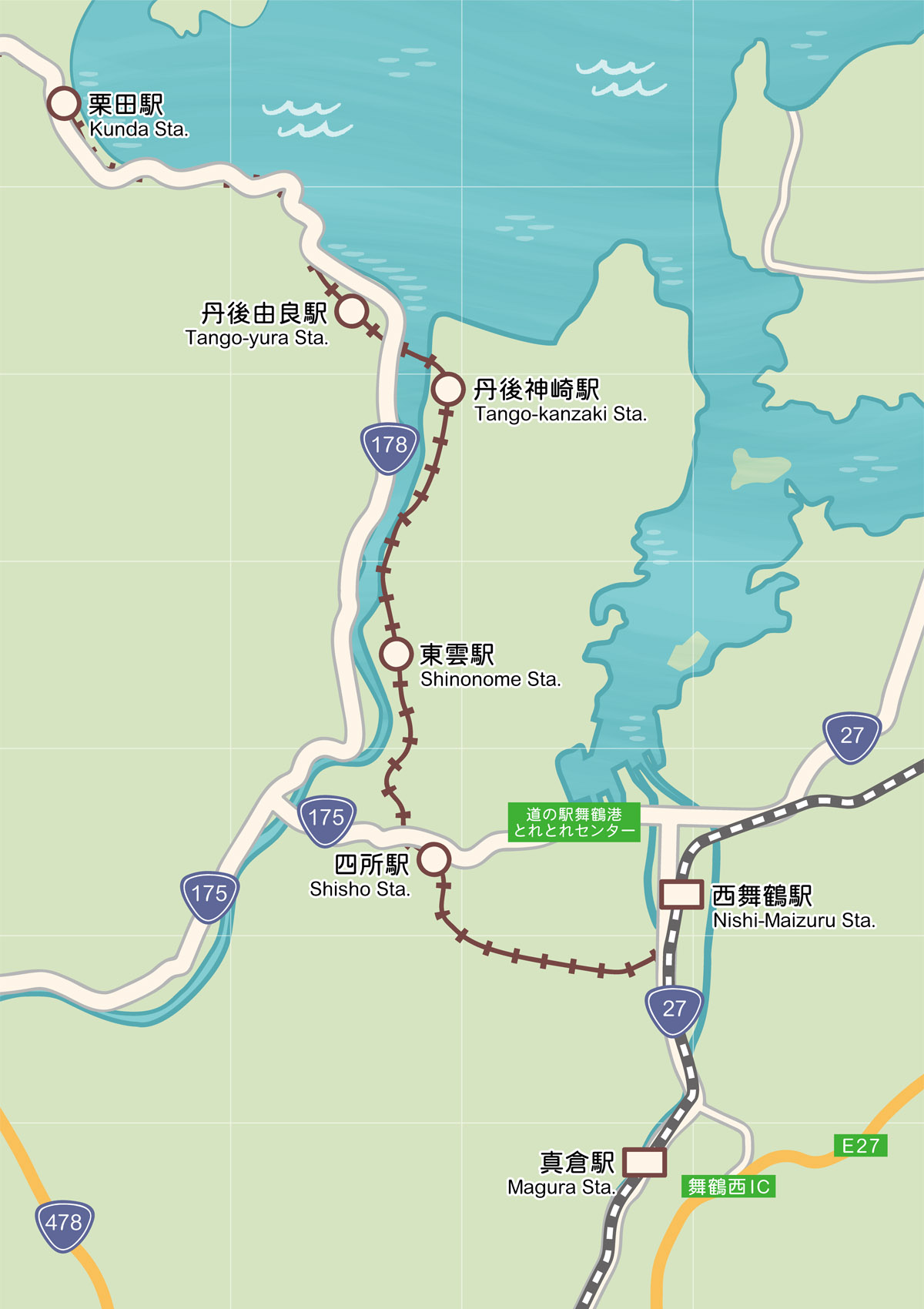Renseignements De Sightseeing Selon La Region Jugeant Selon La Region De Nishi Maizuru Carte Le Kyoto Par La Mer Sightseeing Zone